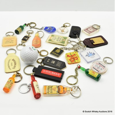Assorted Whisky Keyrings x 22