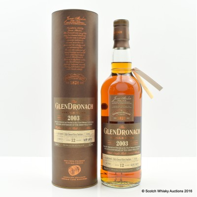 Glendronach 2003 12 Year Old Single Cask #4102 Green Welly Stop 50th Anniversary Third Release