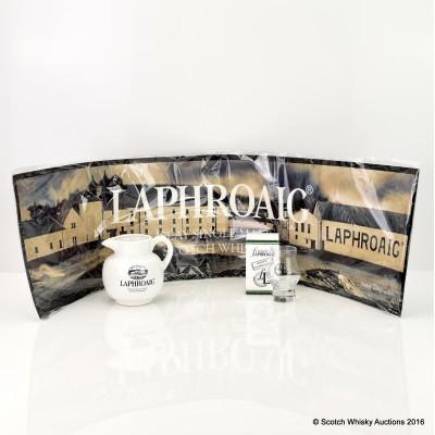 Laphroaig Water Jug, Laphroaig Bar Mat & Friends of Laphroaig Tasting Glass