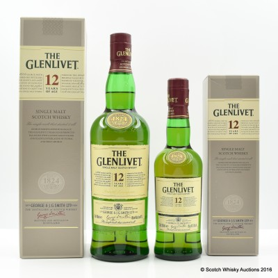 Glenlivet 12 Year Old 70cl & 35cl