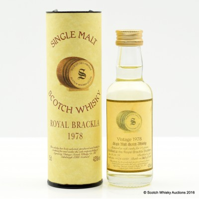 Royal Brackla 1978 14 Year Old Signatory Mini 5cl
