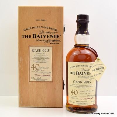 Balvenie 1967 40 Year Old Cask #9915