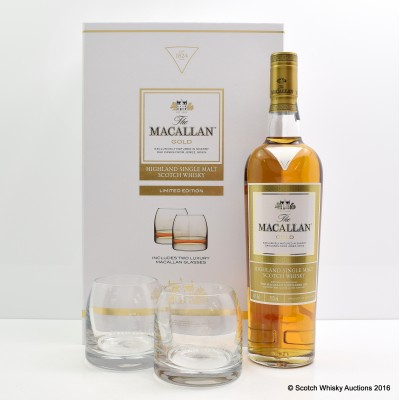 MACALLAN GOLD & 2 X GLASSES GIFT SET