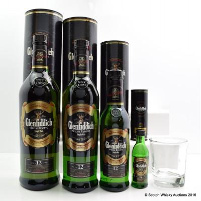 Glenfiddich Pure Malt 1L, 70cl, 35cl, 5cl & Branded Glass