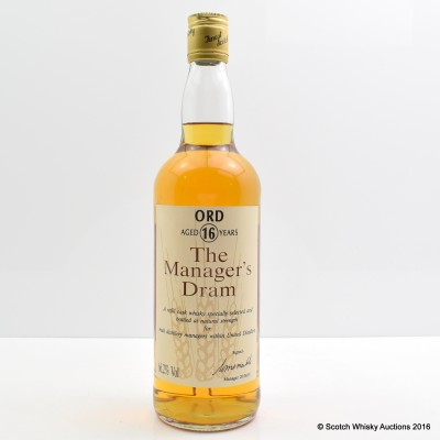 Manager's Dram Glen Ord 16 Year Old 75cl