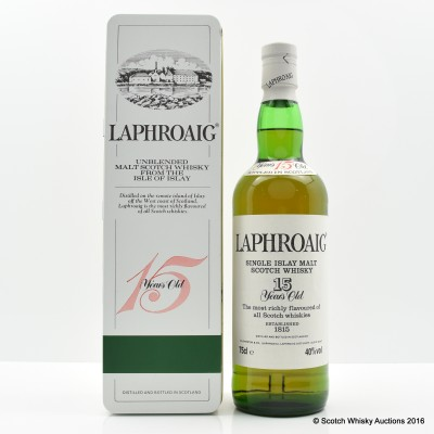 Laphroaig 15 Year Old Pre Royal Warrant 75cl