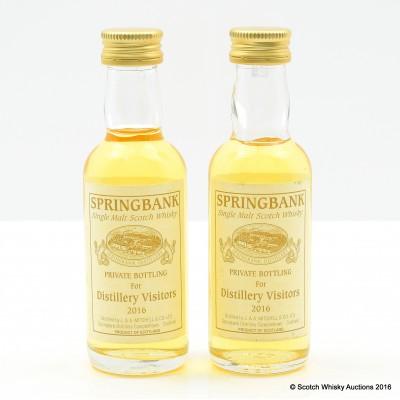 Springbank Private Bottling For Distillery Visitors 2016 Mini 5cl x 2