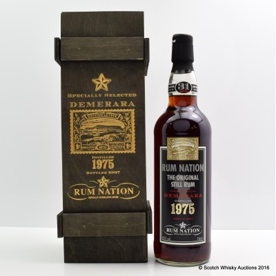 Rum Nation 1975 31 Year Old Specially Selected Demerara Rum