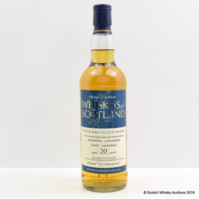 Whiskies Of Scotland 20 Year Old Closed Distilleries Blend