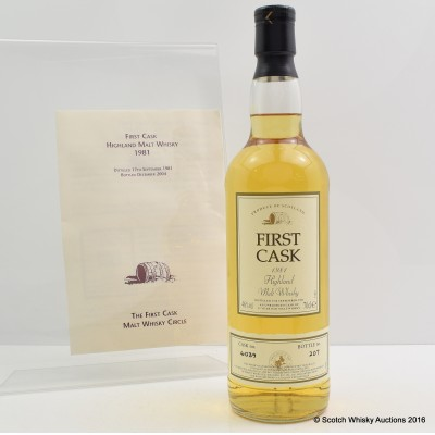 Highland Park 1981 23 Year Old First Cask