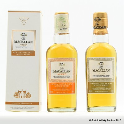 Macallan Gold Mini 5cl & Macallan Amber Mini 5cl