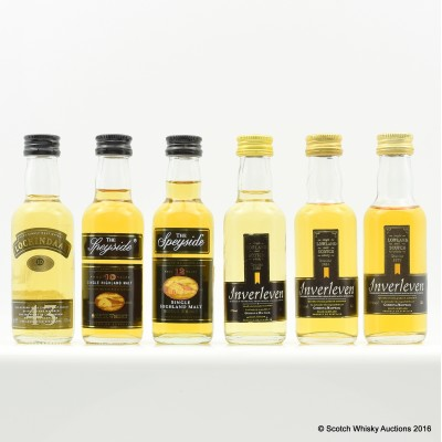 Assorted Minis 6 x 5cl Including Inverleven 5cl