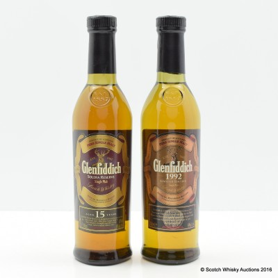 Glenfiddich 1992 20cl & Glenfiddich 15 Year Old 20cl