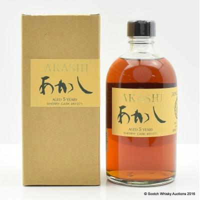 Akashi White Oak 5 Year Old Single Malt 50cl