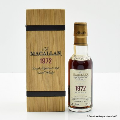 MACALLAN FINE & RARE 1972 MINI 5CL WITH CERTIFICATE