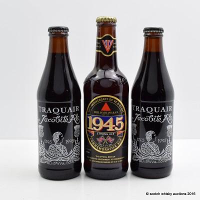 William Bass & Co VE & VJ 50th Anniversary & Traquair Jacobite Ale x 2