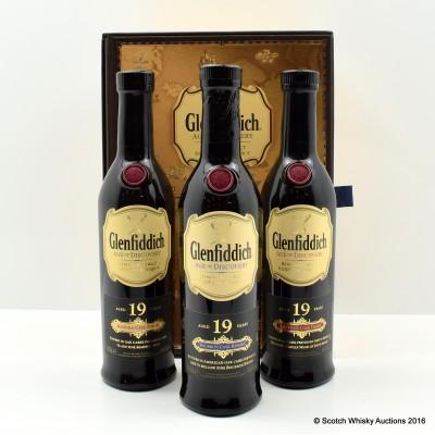 Glenfiddich Age Of Discovery Bourbon Cask, Madeira Cask & Red Wine Cask 3 x 20cl