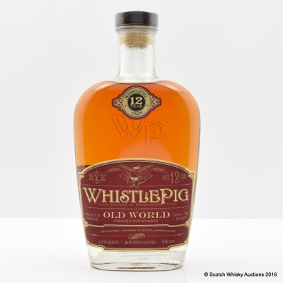 Whistlepig Old World Straight Rye 75cl