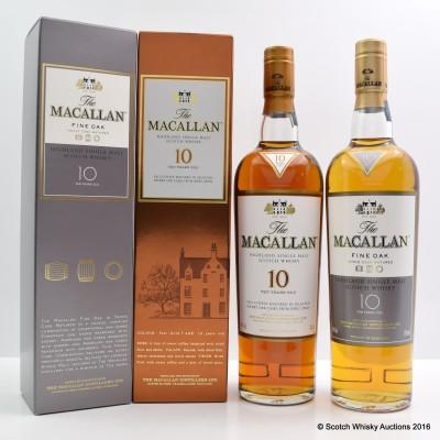 Macallan 10 Year Old & Macallan 10 Year Old Fine Oak