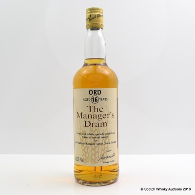 Manager's Dram Glen Ord 16 Year Old