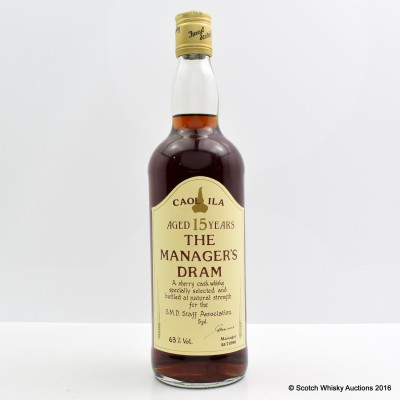 Manager's Dram Caol Ila 15 Year Old 75cl