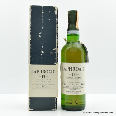 Laphroaig 15 Year Old Pre Royal Warrant