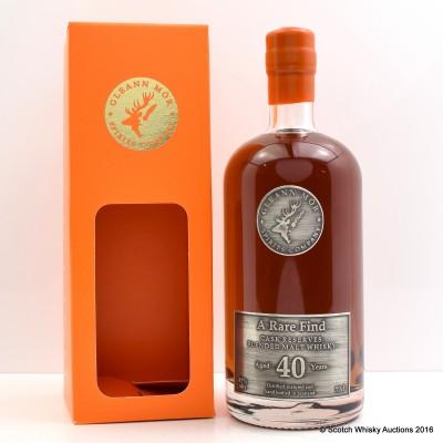 A Rare Find 40 Year Old Blended Whisky Gleann Mor