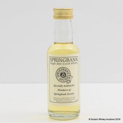 Springbank Society Mini 5cl