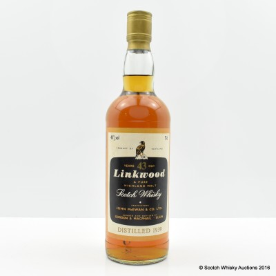 Linkwood 1939 43 Year Old Gordon & MacPhail 75cl