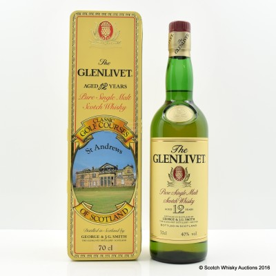 Glenlivet 12 Year Old Classic Golf Courses St Andrews