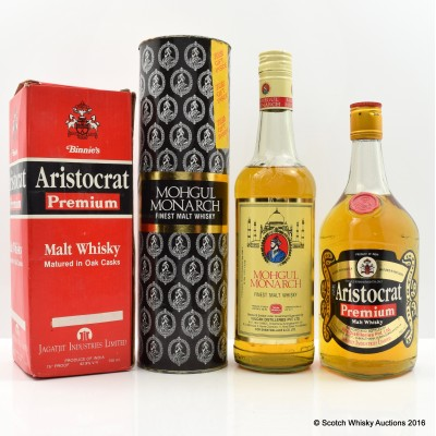 Mohgul Monarch 75cl & Binnie's Aristocrat Premium 75cl
