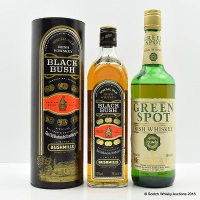 Green Spot & Bushmills Black Bush
