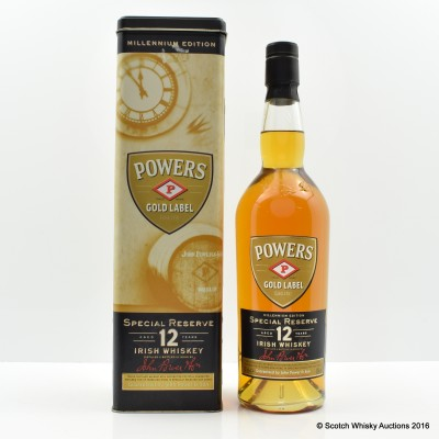 Powers 12 Year Old Gold Label Millennium Edition