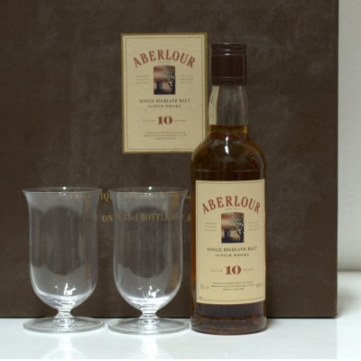 Aberlour 10 Year Old 35cl & 2 x Glasses