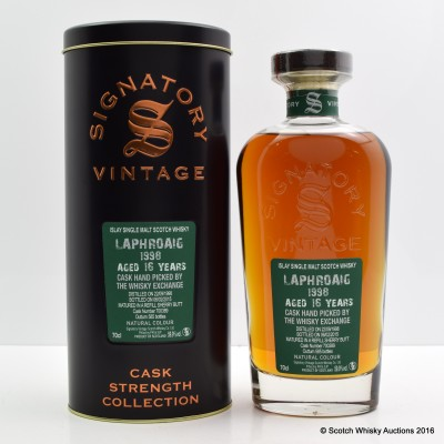 Laphroaig 1998 16 Year Old Signatory Hand Picked By The Whisky Exchange