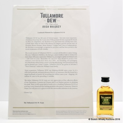 Tullamore Dew Mini 5cl with Letter
