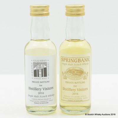 Springbank Private Bottling For Distillery Visitors 2016 Mini & Kilkerran Private Bottling for Distillery Visitors 2016 Mini