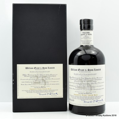 WILLIAM GRANT & SONS RARE & EXTRAORDINARY 25 YEAR OLD 75CL