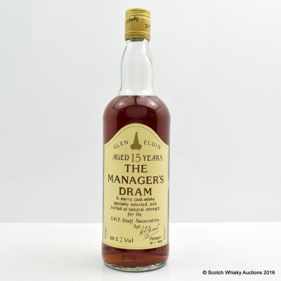 Manager's Dram Glen Elgin 15 Year Old 75cl