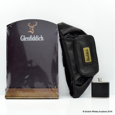Glenfiddich Bumbag, Chalk Board & Small Hip Flask