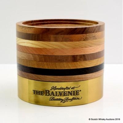 Balvenie Brass and Wooden Bottle Plinth