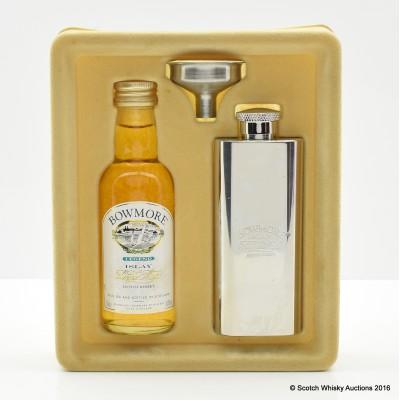 Bowmore Mini & Hip Flask Set
