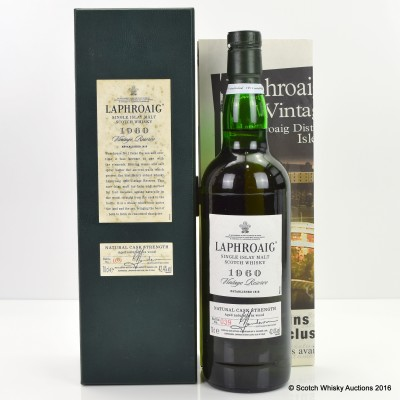 Laphroaig 1960 Vintage Reserve Oddbins Exclusive & Original Advert