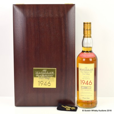 Macallan 1946 52 Year Old Select Reserve With Certificate & Keys