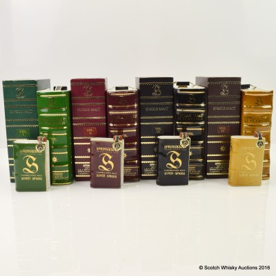 Springbank Book decanters Vol 1 - IV with Matching Minis