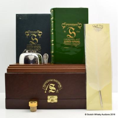 Springbank Volume 1 Book Decanter & Signatory Writing Set