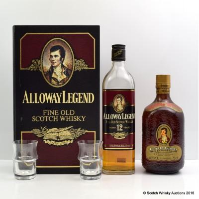Alloway Legend 12 Year Old & Robbie Burns 75cl