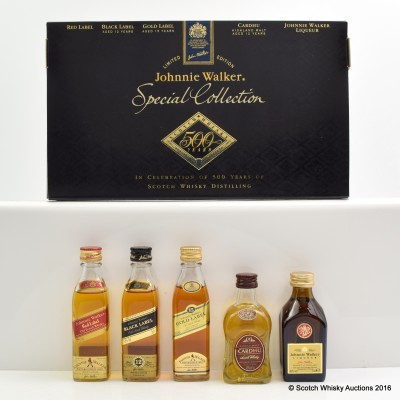 Johnnie Walker Special Collection 5 x 5cl