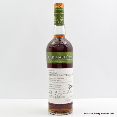 Probably Speyside's Finest Distillery 1968 40 Year Old OMC