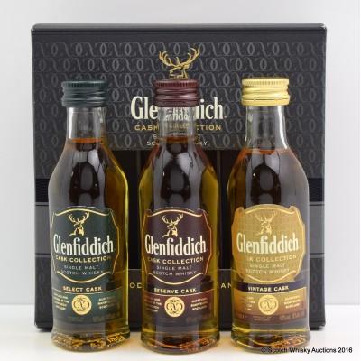Glenfiddich Cask Collection 3 x 5cl Minis